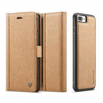 Etui iPhone 8 Plus / 7 Plus Porte-cartes marron - Whatif