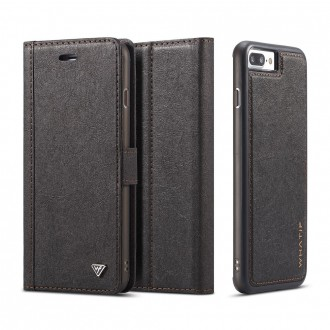 Etui iPhone 8 Plus / 7 Plus Porte-cartes noir - Whatif