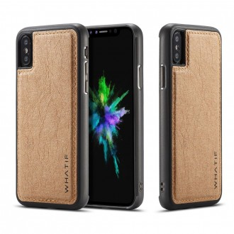 Coque iPhone X marron rigide - Whatif