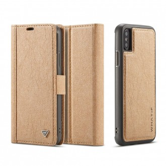 Etui iPhone X Porte-cartes marron - Whatif