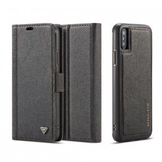Etui iPhone X Porte-cartes noir - Whatif