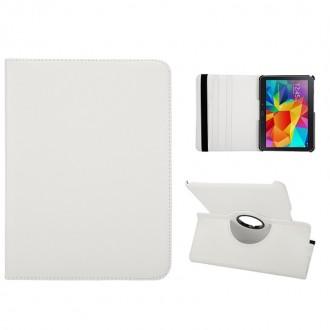 Etui Galaxy Tab 4 10.1 Rotatif 360° Blanc - Crazy Kase