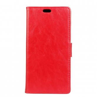 Etui Wiko Tommy 2 Plus Portecartes Rouge - Crazy Kase