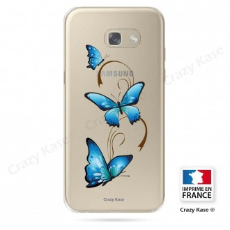 Coque Galaxy A3 (2017) souple motif Papillon sur Arabesque - Crazy Kase