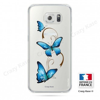 Coque Galaxy S6 souple motif Papillon sur Arabesque - Crazy Kase