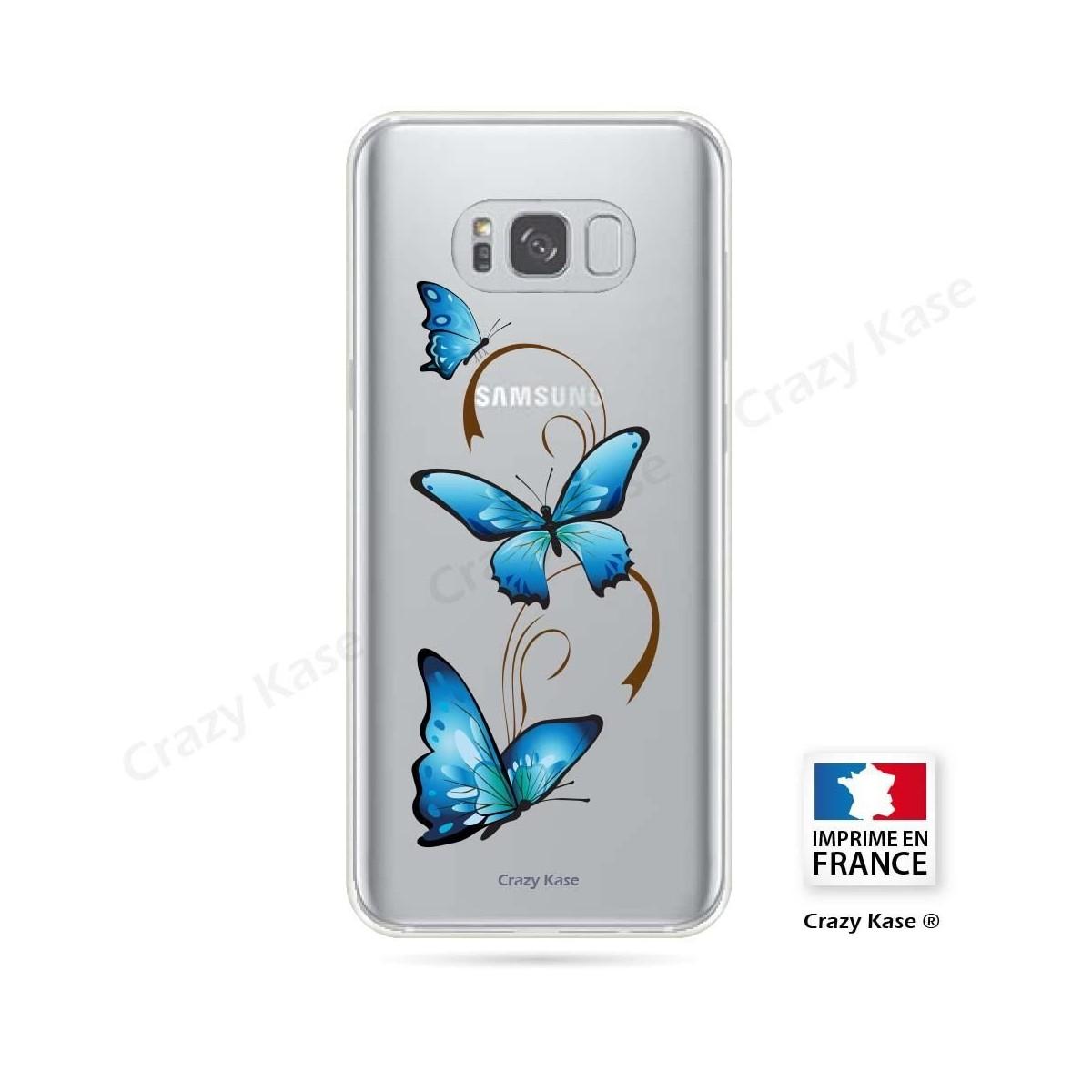 Coque Galaxy S8 souple motif Papillon sur Arabesque - Crazy Kase