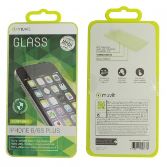 Film iPhone 6 Plus / 6s Plus protection écran verre trempé - Muvit
