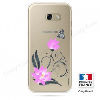 Coque Galaxy A3 (2016) souple motif Fleur de lotus et papillon- Crazy Kase