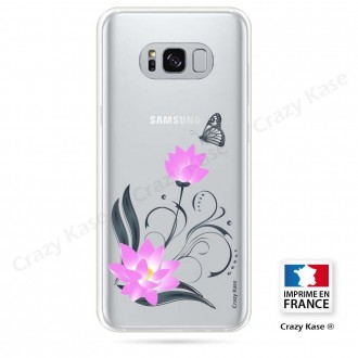 Coque Galaxy S8 Plus souple motif Fleur de lotus et papillon- Crazy Kase
