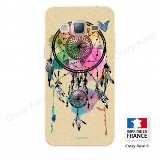 Coque Galaxy Grand Prime souple motif Attrape rêve et papillon - Crazy Kase