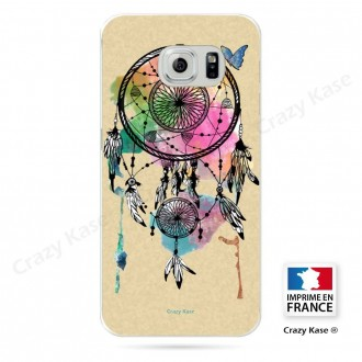 Coque Galaxy S6 Edge souple motif Attrape rêve et papillon - Crazy Kase