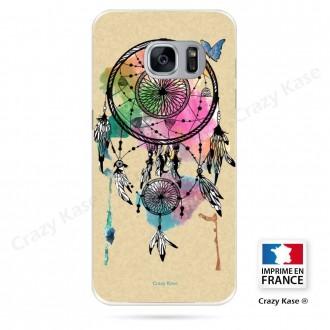 Coque Galaxy S7 souple motif Attrape rêve et papillon - Crazy Kase