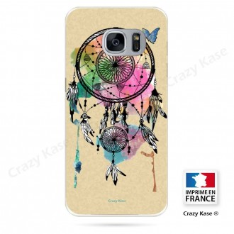 Coque Galaxy S7 Edge souple motif Attrape rêve et papillon - Crazy Kase