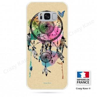 Coque Galaxy S8 souple motif Attrape rêve et papillon - Crazy Kase