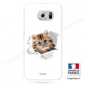 Coque Galaxy S6 souple motif Chat trop mignon - Crazy Kase