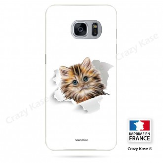 Coque Galaxy S7 Edge souple motif Chat trop mignon - Crazy Kase