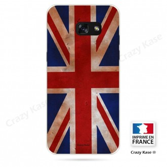 Coque Galaxy A3 (2016) souple motif Drapeau UK vintage - Crazy Kase