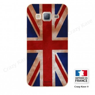 Coque Galaxy J3 (2016) souple motif Drapeau UK vintage - Crazy Kase