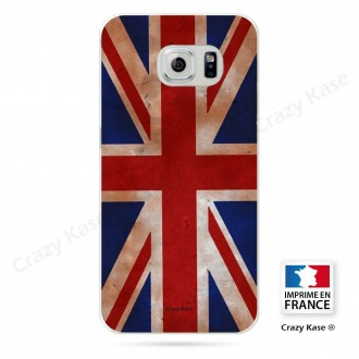 Coque Galaxy S6 souple motif Drapeau UK vintage - Crazy Kase