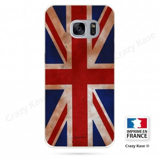Coque Galaxy S7 souple motif Drapeau UK vintage - Crazy Kase