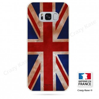 Coque Galaxy S8 souple motif Drapeau UK vintage - Crazy Kase