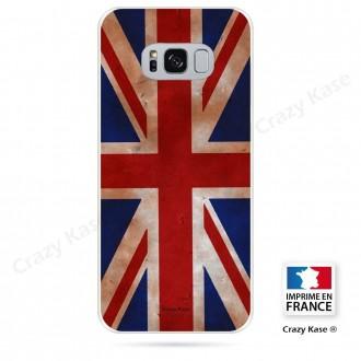 Coque Galaxy S8 Plus souple motif Drapeau UK vintage - Crazy Kase