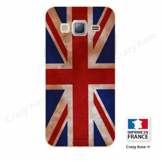 Coque Galaxy Grand Prime souple motif Drapeau UK vintage - Crazy Kase