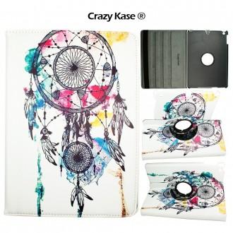 Etui iPad 5ème génération (2017) rotatif 360° motif Attrape Rêves - Crazy Kase