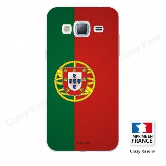 Coque Galaxy Grand Prime souple motif Drapeau Portugais - Crazy Kase