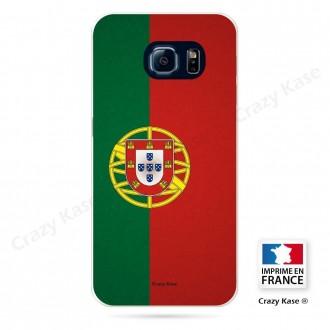 Coque Galaxy S6 Edge souple motif Drapeau Portugais - Crazy Kase