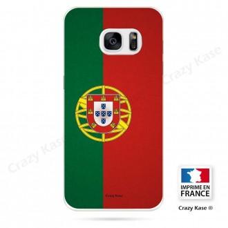 Coque Galaxy S7 Edge souple motif Drapeau Portugais - Crazy Kase