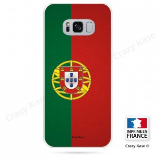 Coque Galaxy S8 Plus souple motif Drapeau Portugais - Crazy Kase