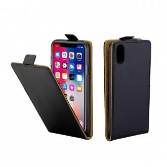 Etui iPhone X ouverture Verticale Noir - Crazy Kase