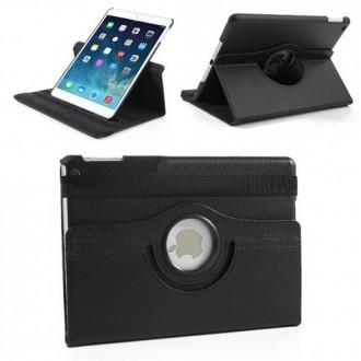 Etui iPad 5ème génération (2017) Rotatif 360° Noir uni - Crazy Kase