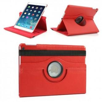 Etui iPad 5ème génération (2017) Rotatif 360° Rouge uni - Crazy Kase