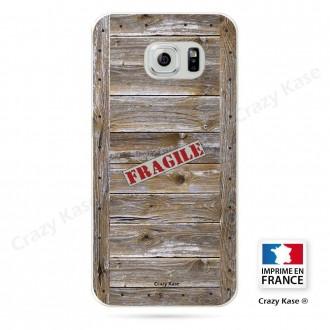 Coque Galaxy S6 souple effet Caisse en bois - Crazy Kase