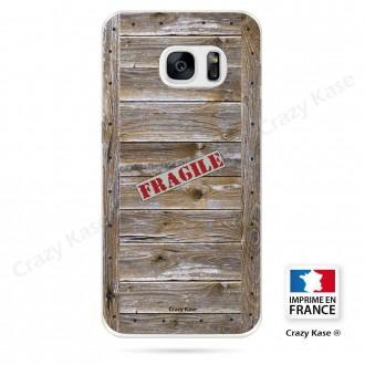 Coque Galaxy S7 souple effet Caisse en bois - Crazy Kase