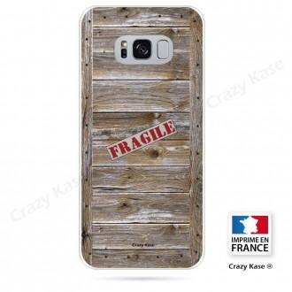 Coque Galaxy S8 souple effet Caisse en bois - Crazy Kase