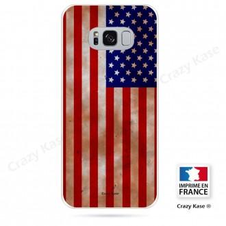 Coque Galaxy S8 Plus souple motif Drapeau Américain - Crazy Kase