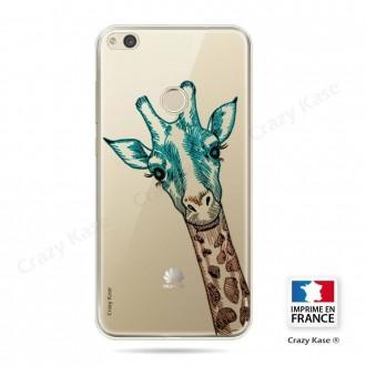 Coque P8 Lite (2017) souple motif Tête de Girafe - Crazy Kase