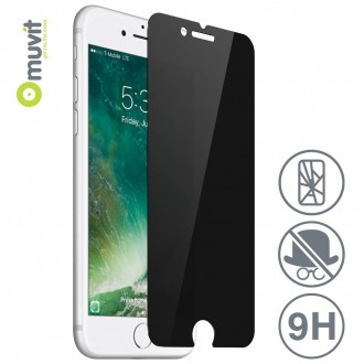 Film iPhone 8 / 7 protection écran verre trempé teinté Anti-espion - Muvit