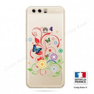 Coque Huawei P10 souple motif Papillons et Cercles - Crazy Kase