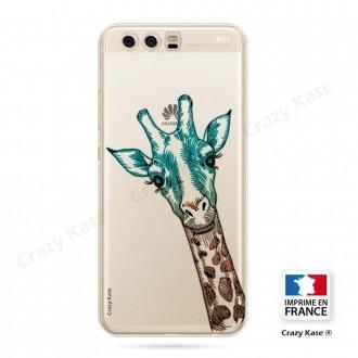 Coque Huawei P10 souple motif Tête de Girafe - Crazy Kase