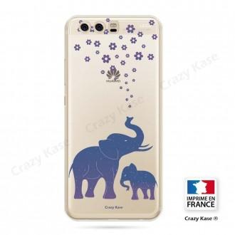 Coque Huawei P10 souple motif Eléphant Bleu - Crazy Kase