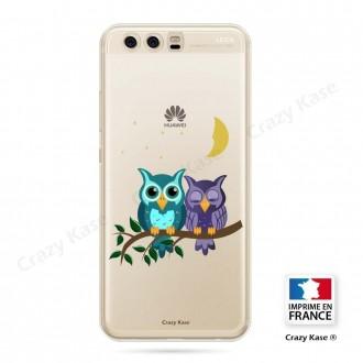 Coque Huawei P10 souple motif chouettes au clair de lune - Crazy Kase