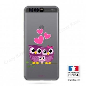 Coque Huawei P10 souple motif Famille Chouette - Crazy Kase