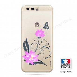 Coque Huawei P10 souple motif Fleur de lotus et papillon- Crazy Kase
