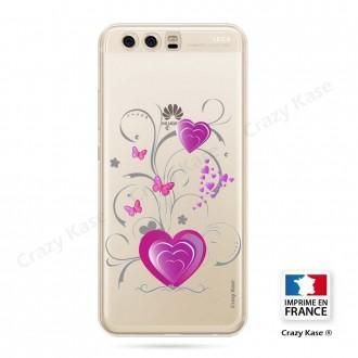 Coque Huawei P10 souple motif Cœur et papillon - Crazy Kase