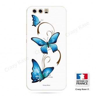 Coque Huawei P10 Plus souple motif Papillon et Arabesque sur fond blanc - Crazy Kase