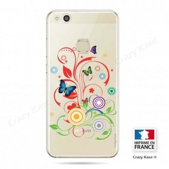 Coque Huawei P10 Lite souple motif Papillons et Cercles - Crazy Kase